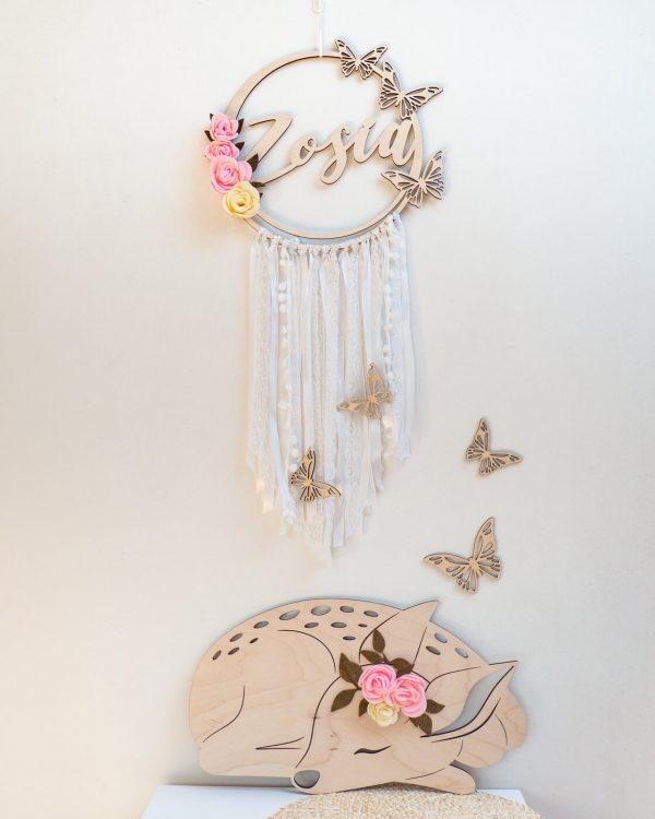 łapacz snów z motylami biały 1