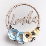 imię w kolke z kwiatami