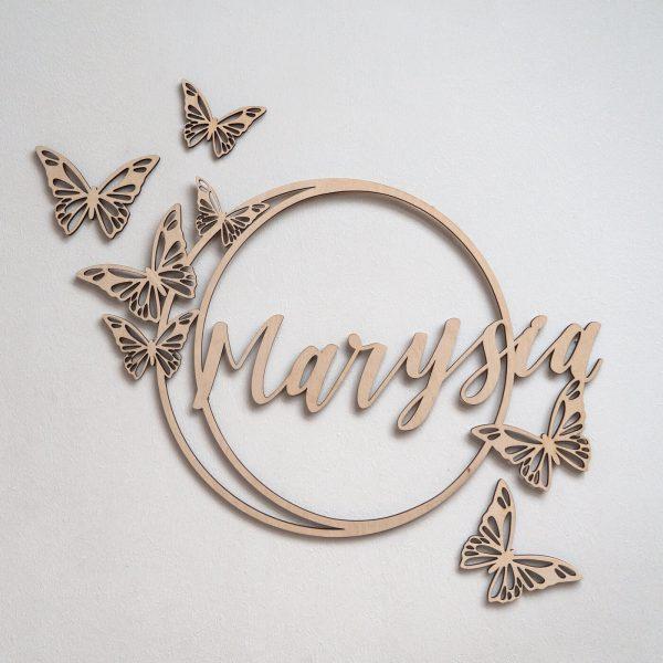 koło z motylami