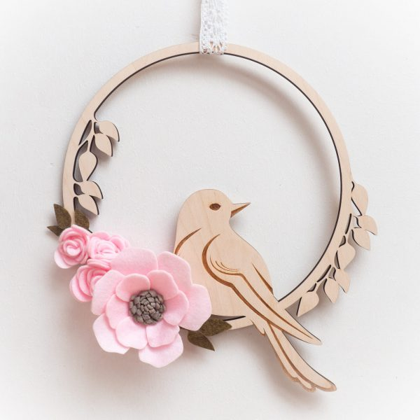 kolo z ptaszkiem różowe
