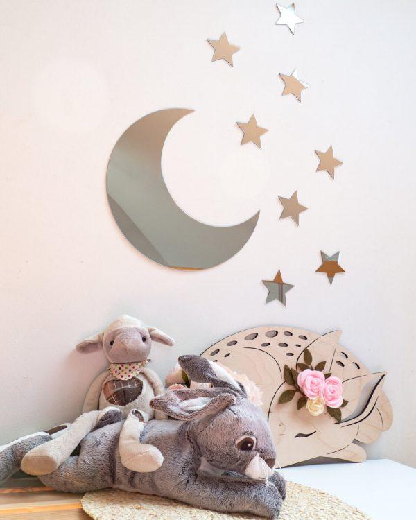 księżyc srebrne lustro