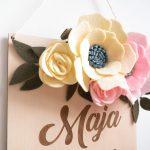 metryczka z kwiatami
