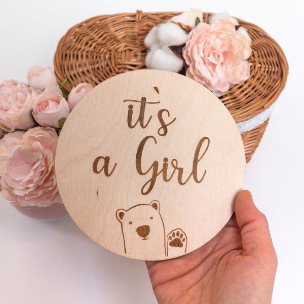 tabliczka its a girl 3