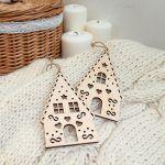 Drewniane zawieszki świąteczne na choinkę