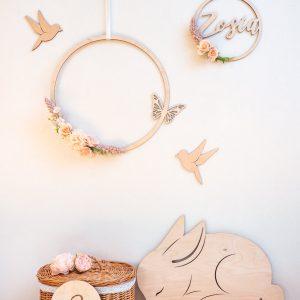 Aranżacja dekoracji na ścianę do pokoju dziewczynki
