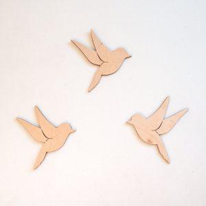Dekoracja ścienna w kształcie ptaków