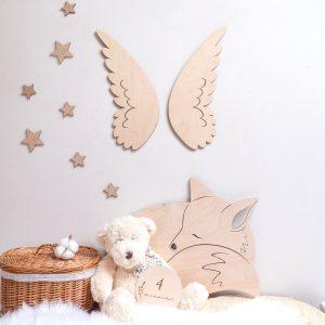 Dekoracje drewniane do pokoju dziecięcego