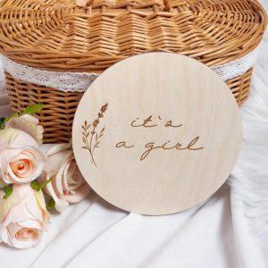 Drewniana tabliczka do sesji zdjęciowych