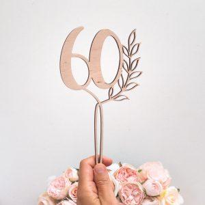 Topper drewniany urodzinowy