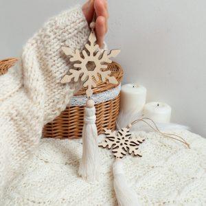 Świąteczne dekoracje bożonarodzeniowe ręcznie robione