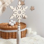 Zawieszka świąteczna płatek śniegu z chwostem