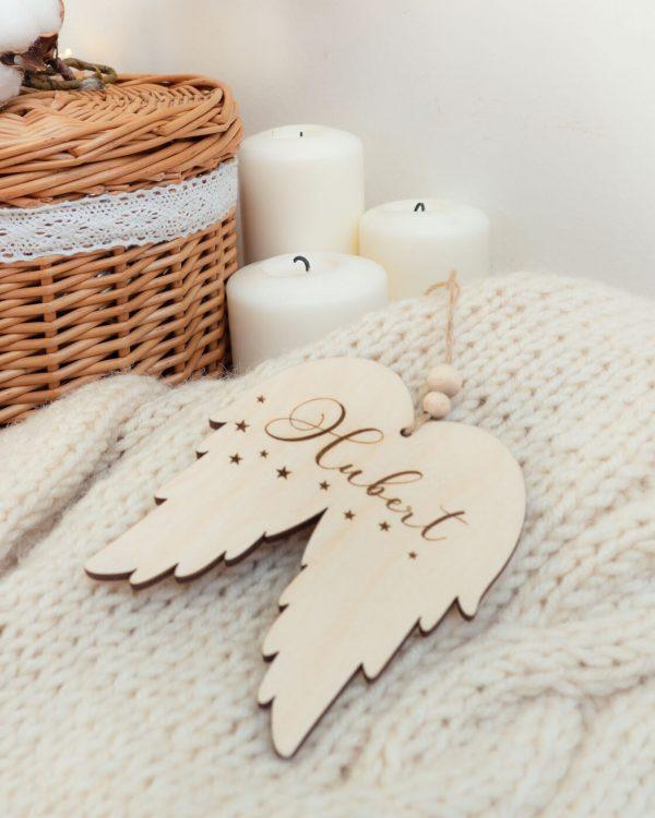 Zawieszka choinkowa skrzydełka anioła