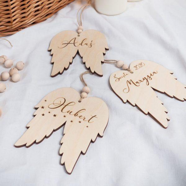 Zawieszki choinkowe skrzydełka anioła