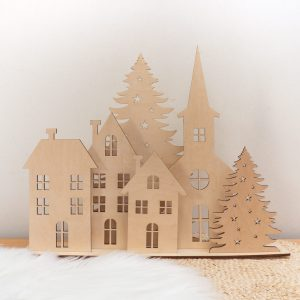 Drewniana Dekoracja świąteczna