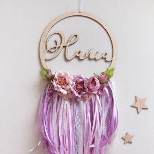Łapacz snów dla dziecka z kwiatami