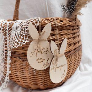 Wielkanocna zawieszka z imieniem dziecka