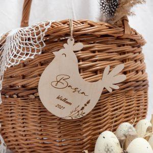 Wielkanocna zawieszka drewniana kura