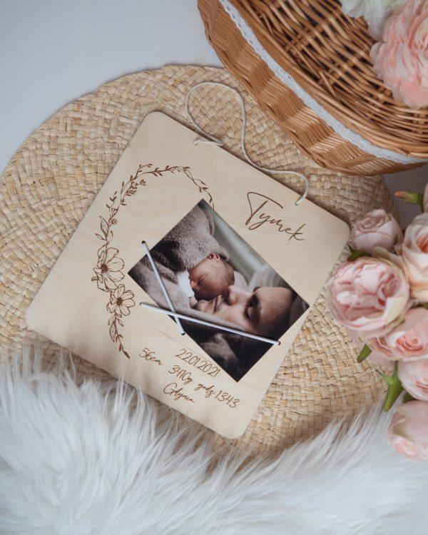 Metryczka ze zdjęciem dla dziecka