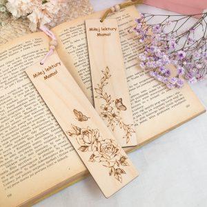 Zakładka do książki z kwiatami