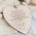 Serce z modlitwą Aniele Boży dla chłopca